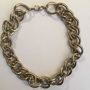 Jewelry - Vintage Gold Double Link Choker Necklace